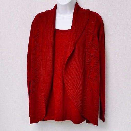 Croft & Barrow Red shrug sweater w/ atta