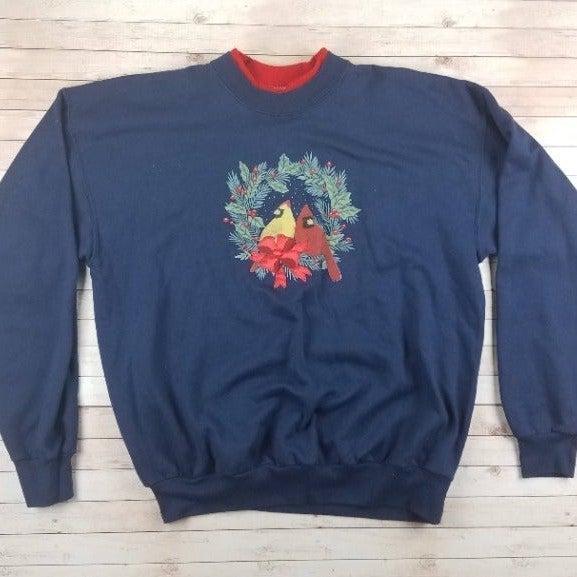 VTG 80s/90s Wreath Cardinals Sweatshirt