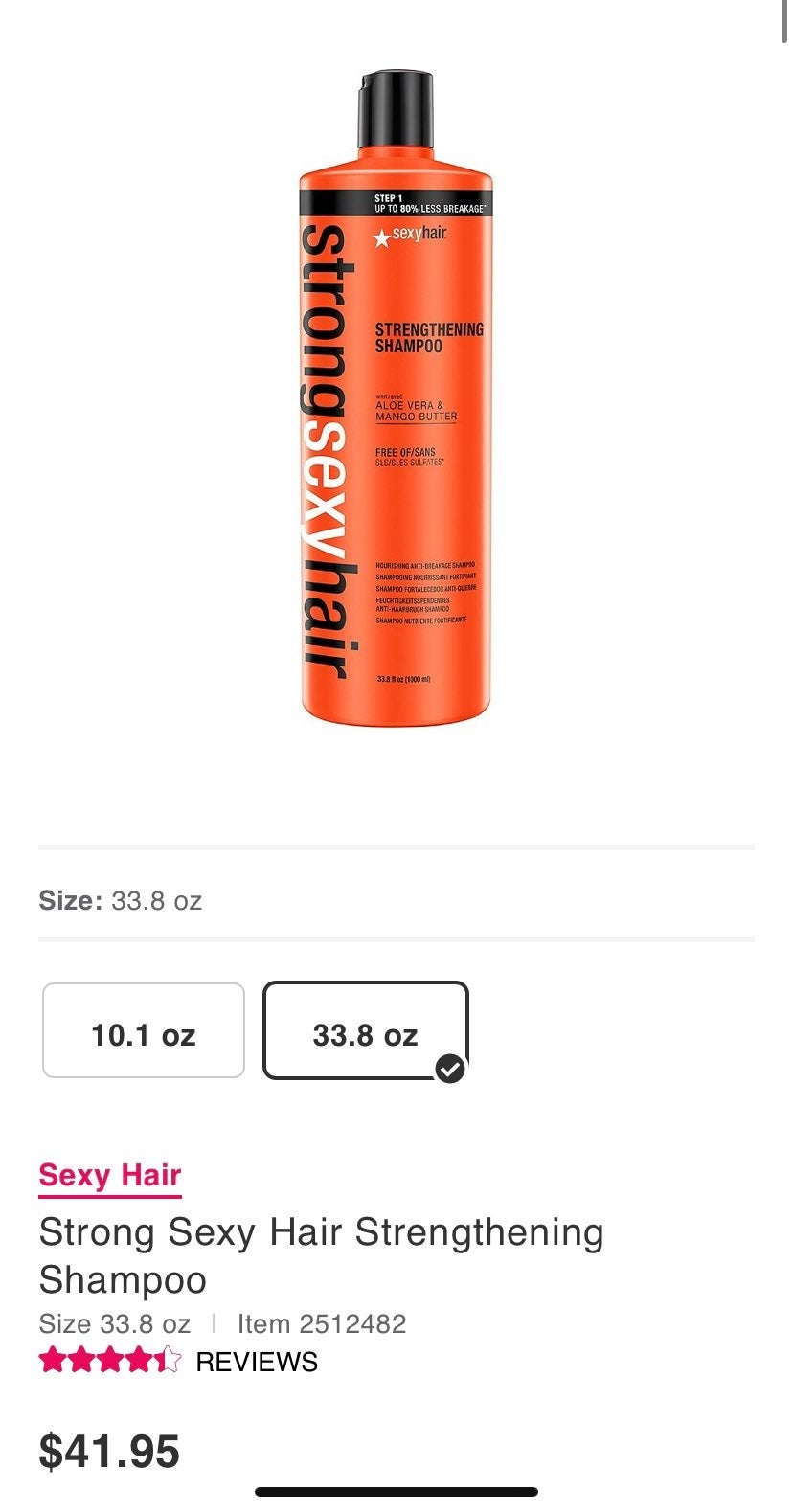 Strong Sexy Hair Strengthening shampoo/c