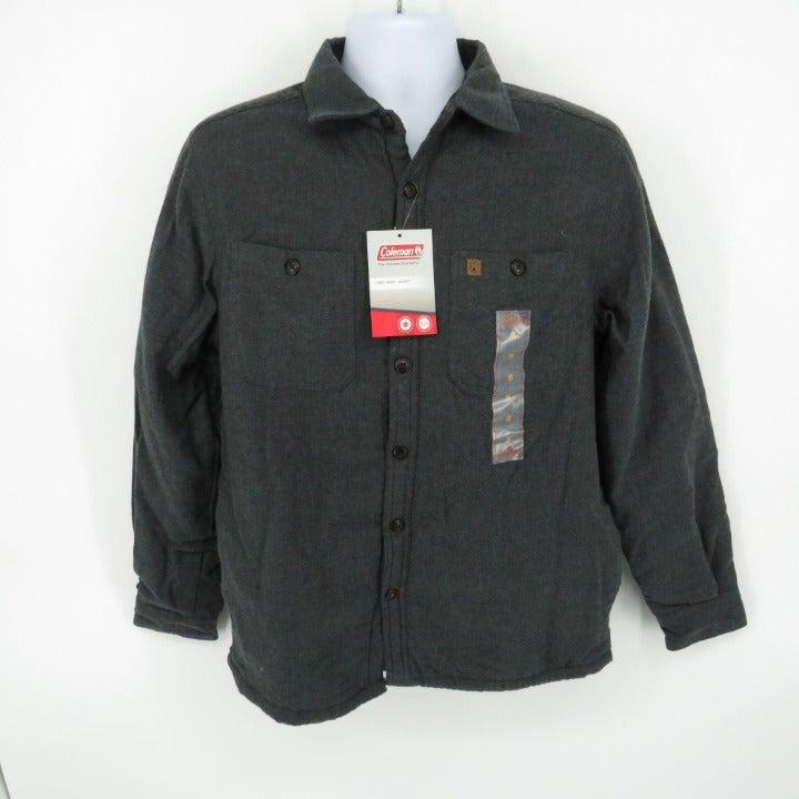 Coleman Mens Lined Shirt Jacket Charcoal