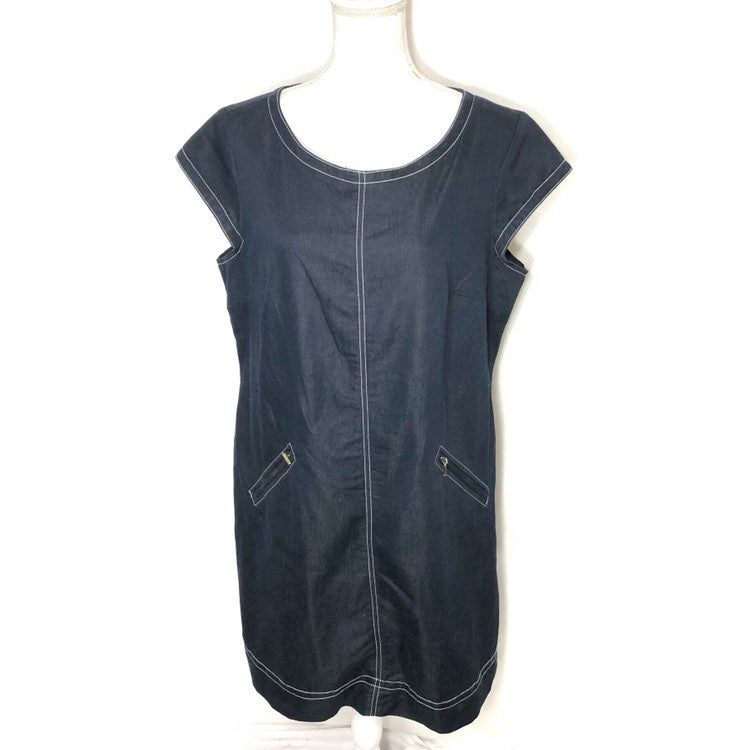 Madison Leigh Denim Midi Dress Sz 18