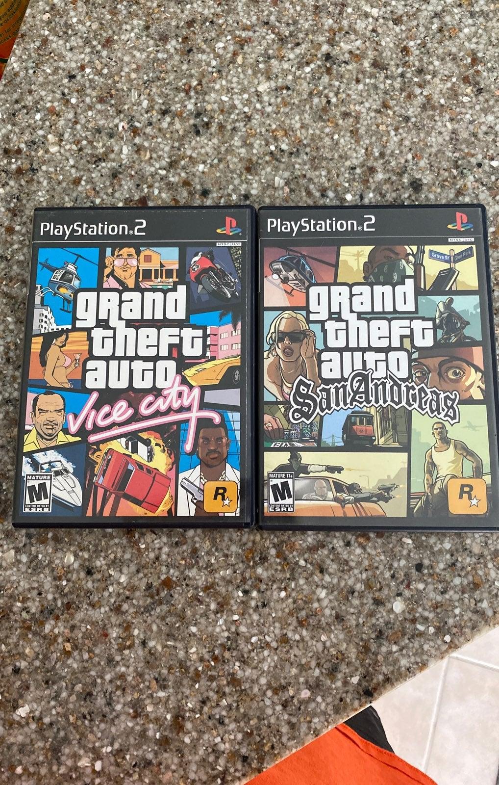 Ps2 games..GTA San Andreas + GTA Vice Ci