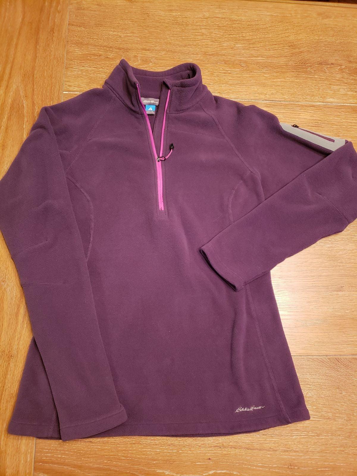 EDDIE BAUER 1/4 front zip fleece jacket