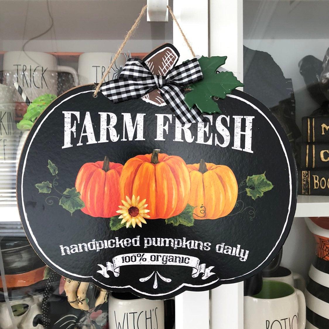 Fall Farm Fresh Pumpkins Wall Sign