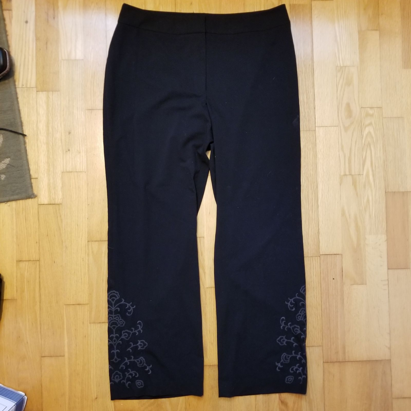 Apostrophe Grey Embroidered Fleur Pants