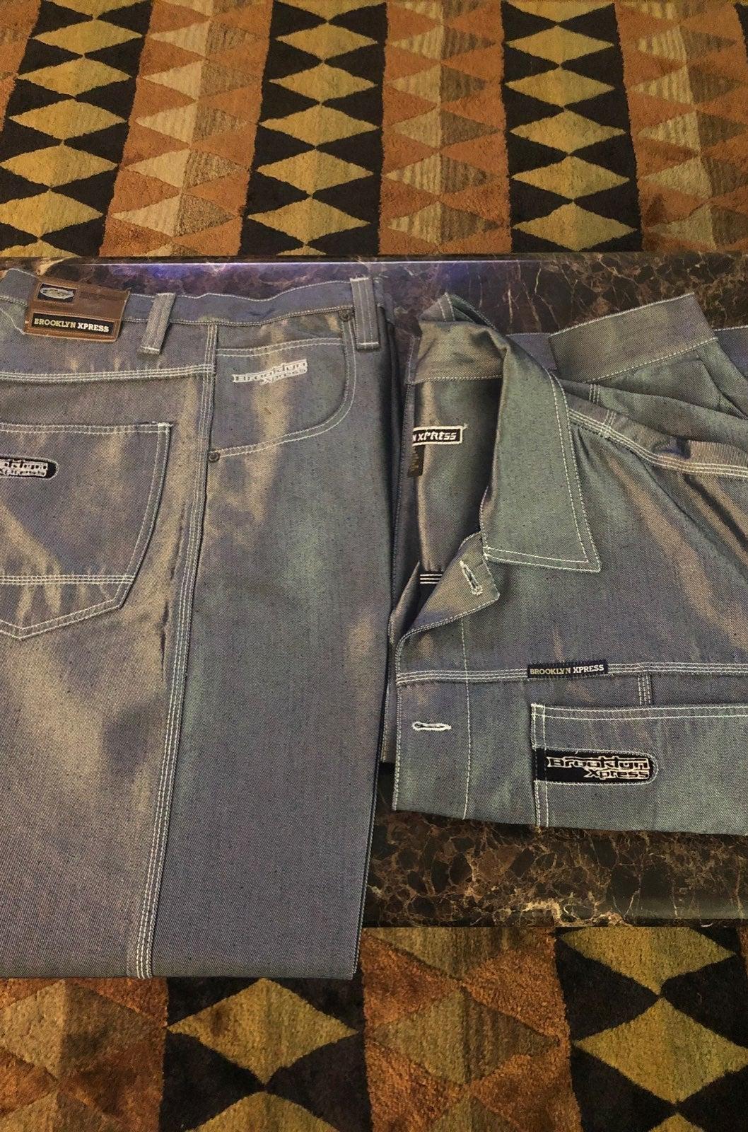 Brooklyn Express Men's Jean Suit