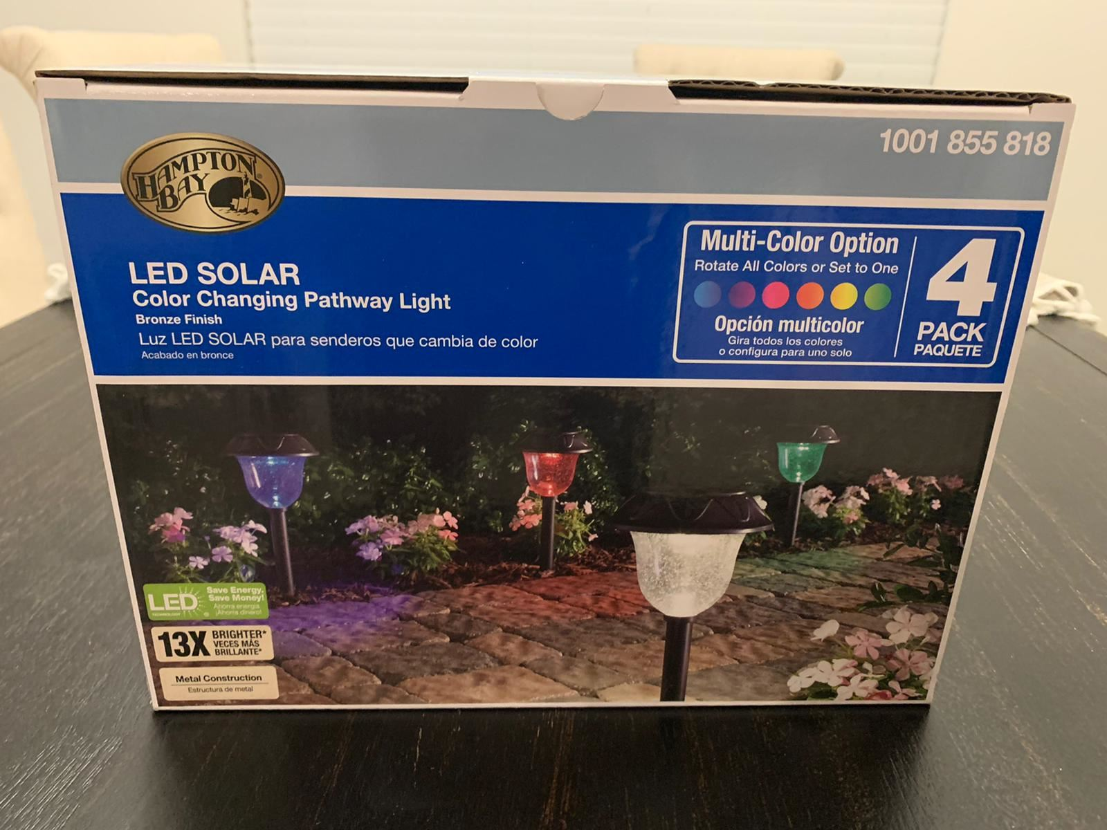 Solar Lights Color-Changing LED 4 pc