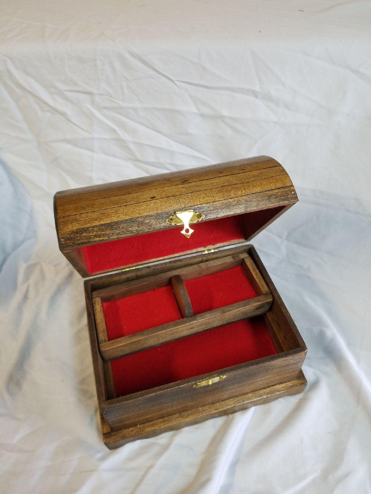 Handmade treasure chest jewelry box.