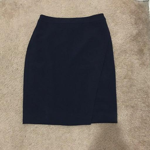 Cremieux Navy Blue Pencil Skirt NWT 6