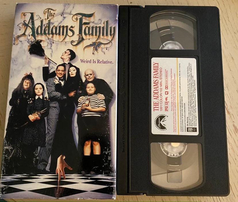 The Addams Family vhs horror comedy
