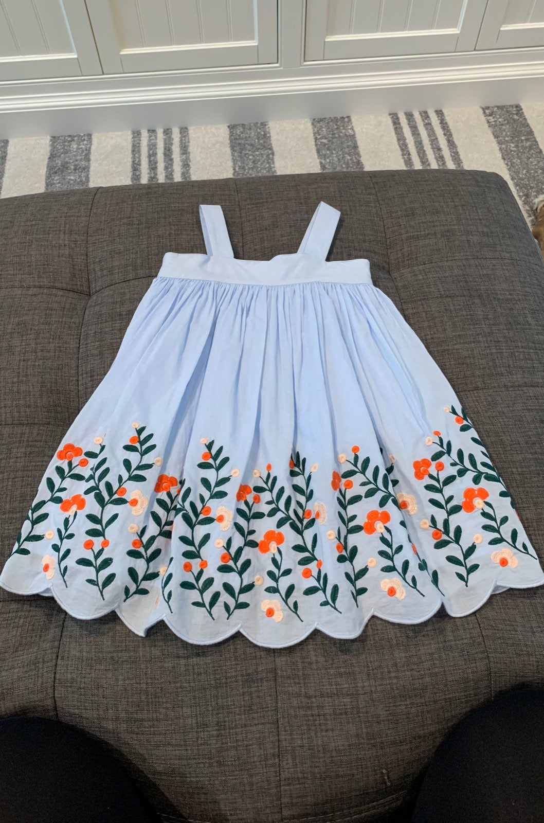 Janie and jack girl embroider dress 18-2