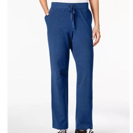 Karen Scott Petite Active Blue Pants
