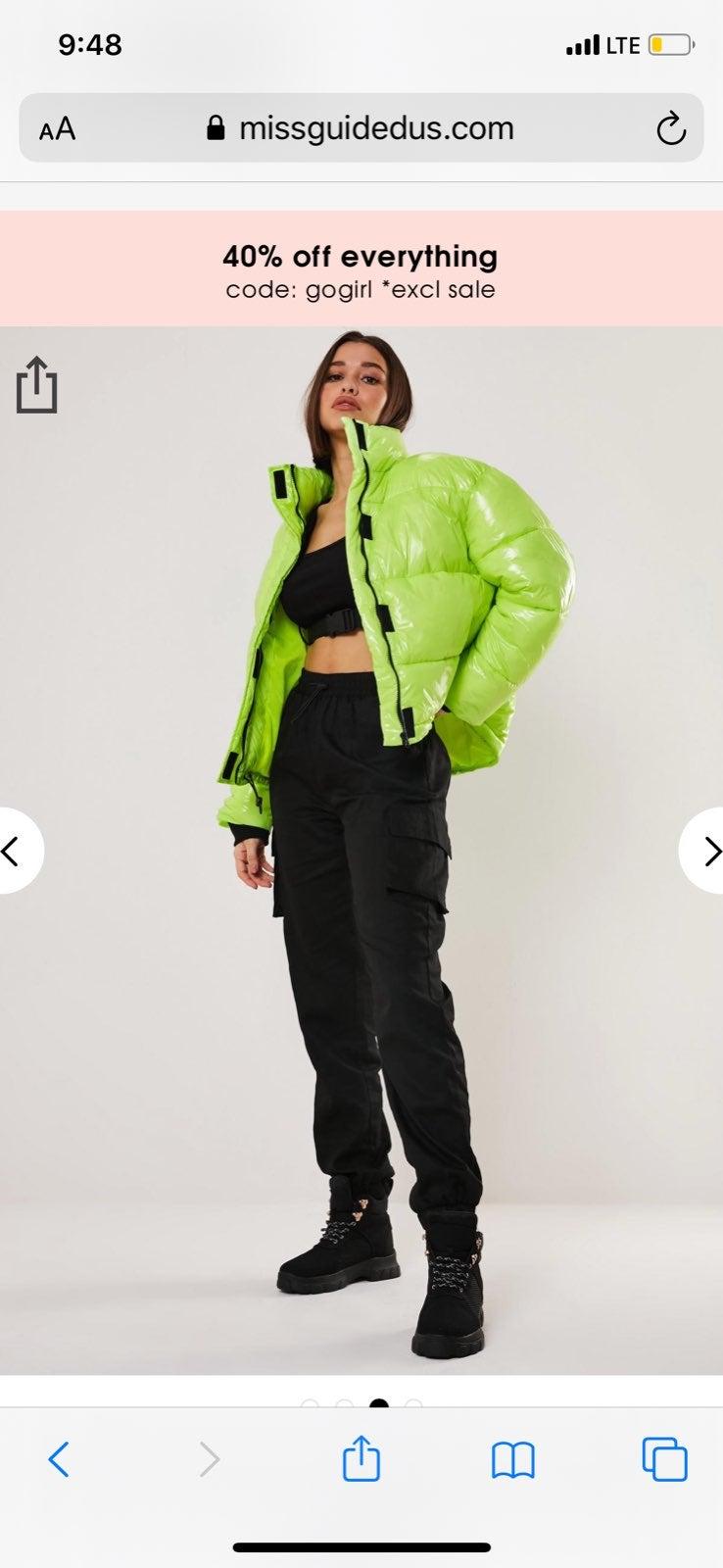 Neon Puffer Coat