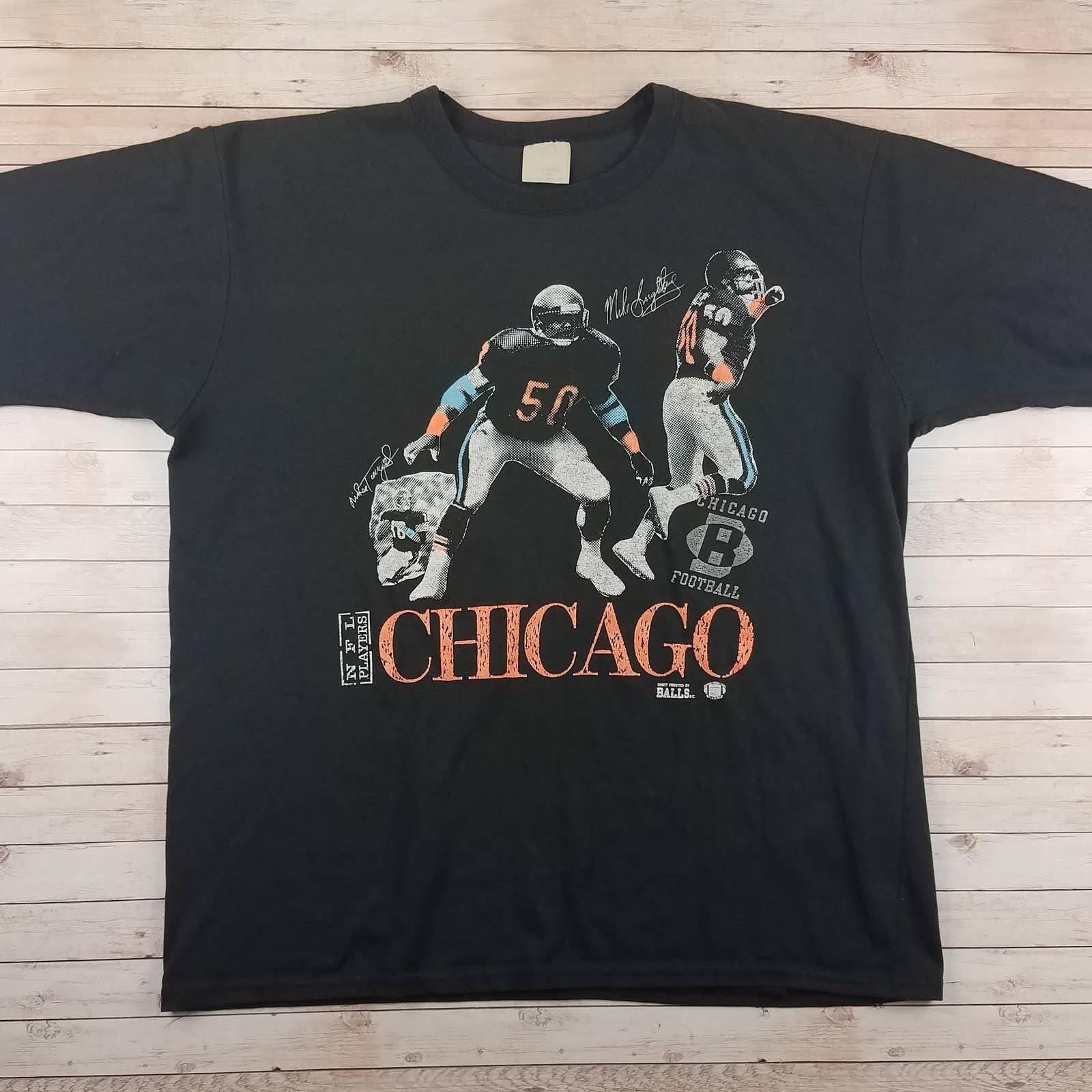 VTG 1989 Chicago Bears 2 Sided Tee Shirt