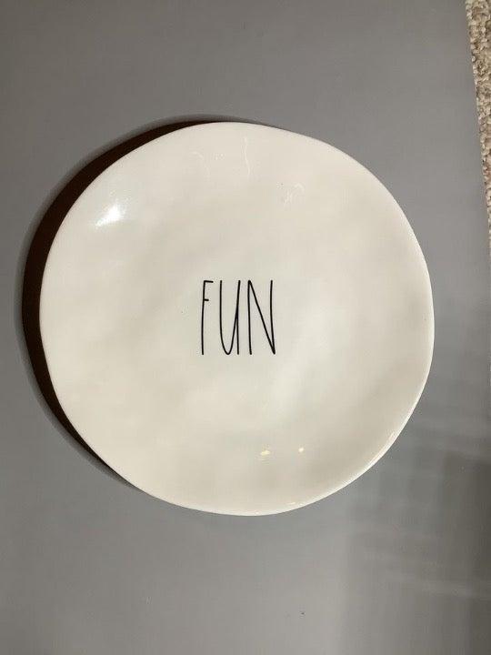 Rae Dunn Ceramic Dinner Plates (2 total)