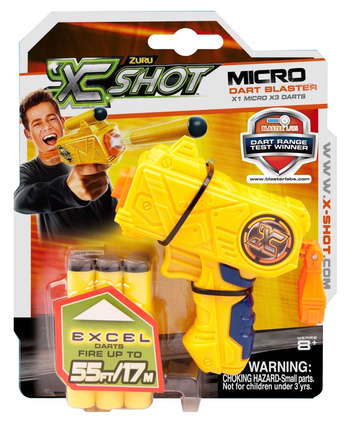 "NEW Zuru X SHOT Micro Dart Blaster 3.5"""