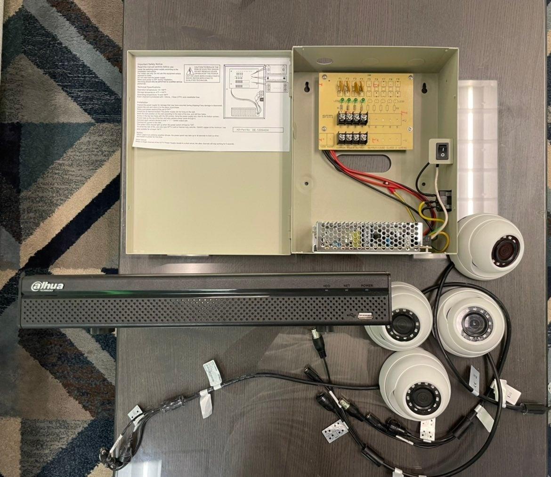 4 camera Surveillance security system
