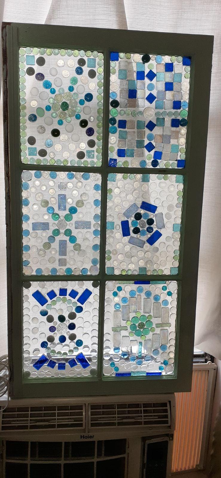 Mosaic tile window