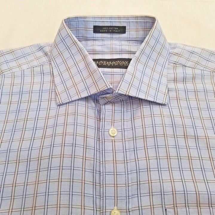 Hathaway Platinum Mens Shirt Size Large