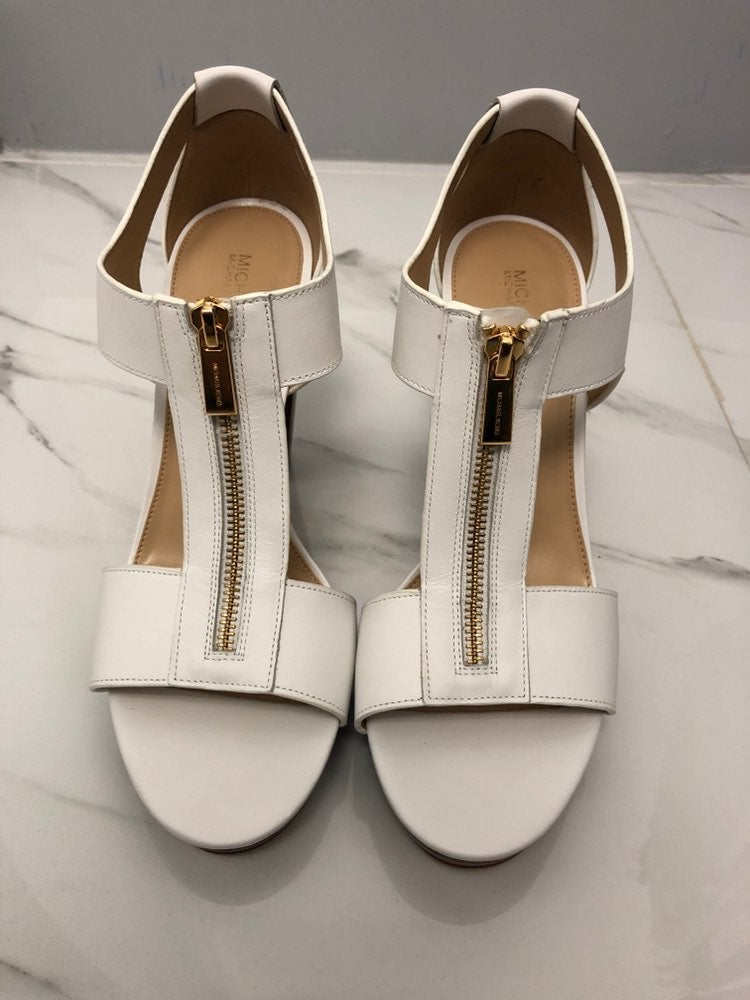 Michael Kors Berkley Lock Leather Sandal