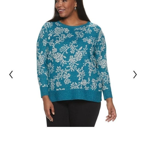 Croft & Barrow Teal Sweater