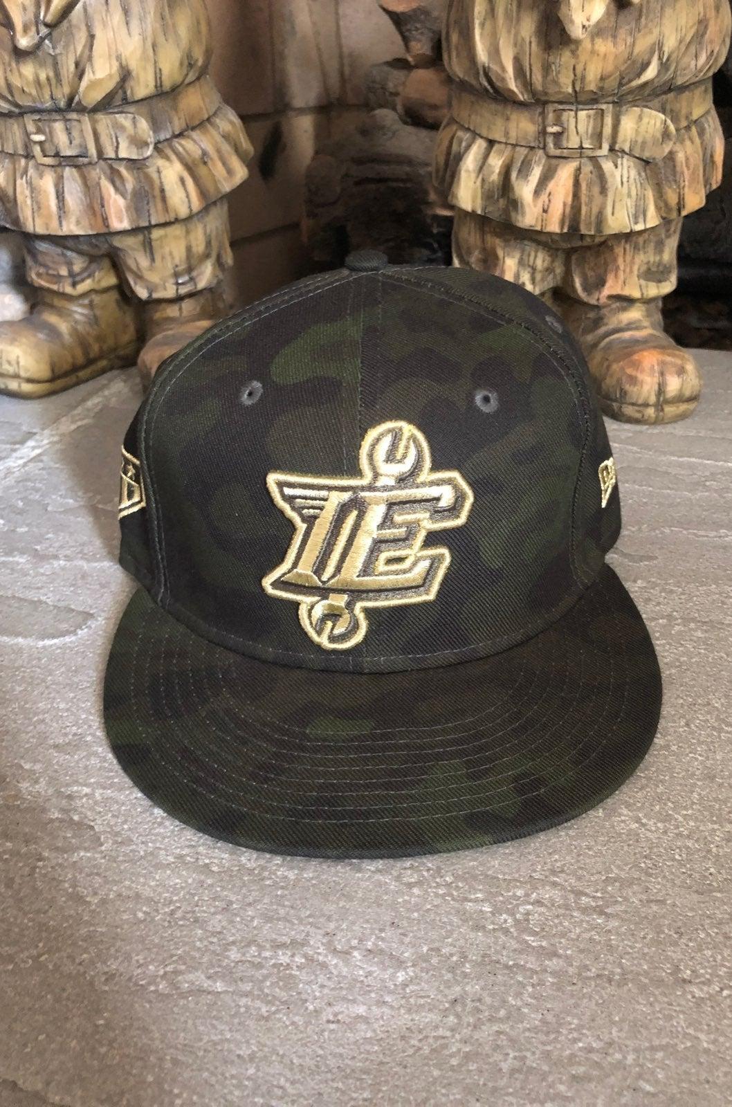 IE 66ers milb camo military new era hat