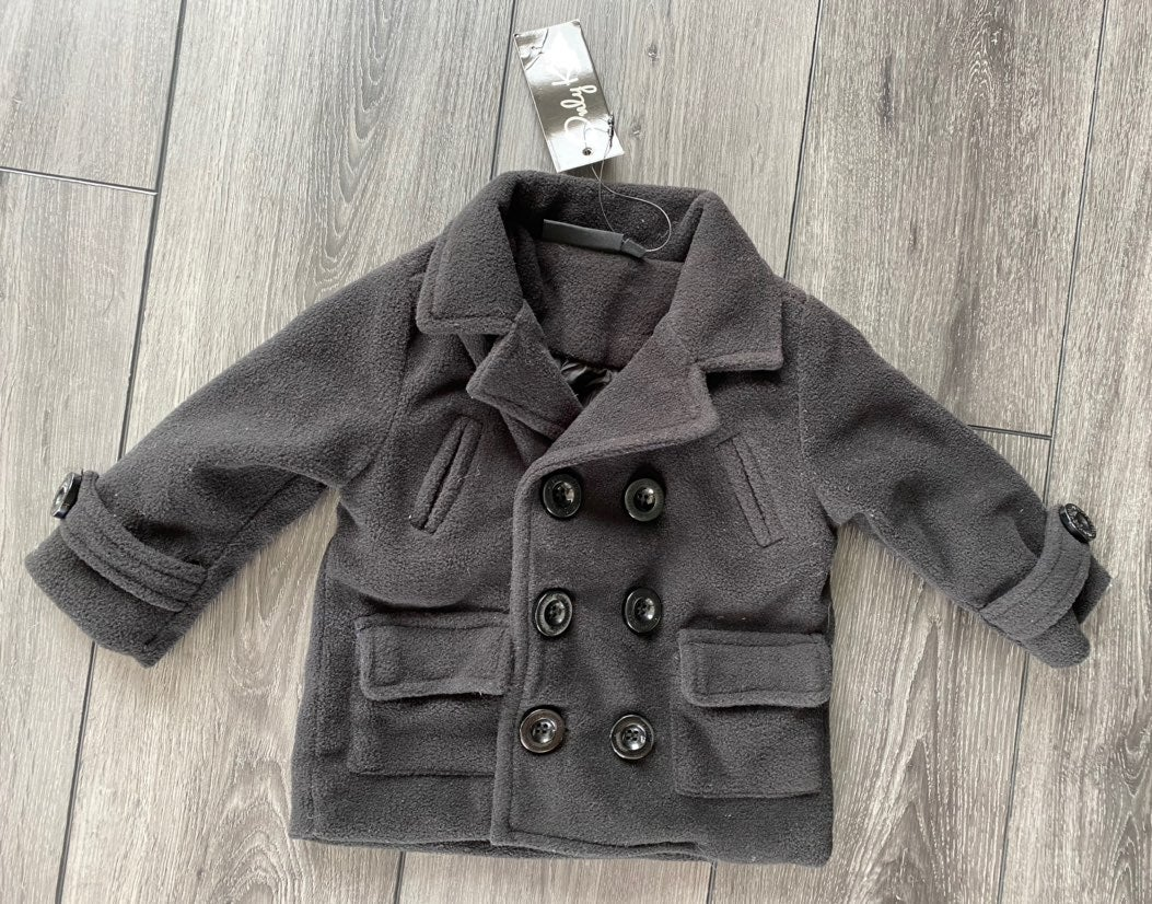 Only Kids black peacoat 6-9mo