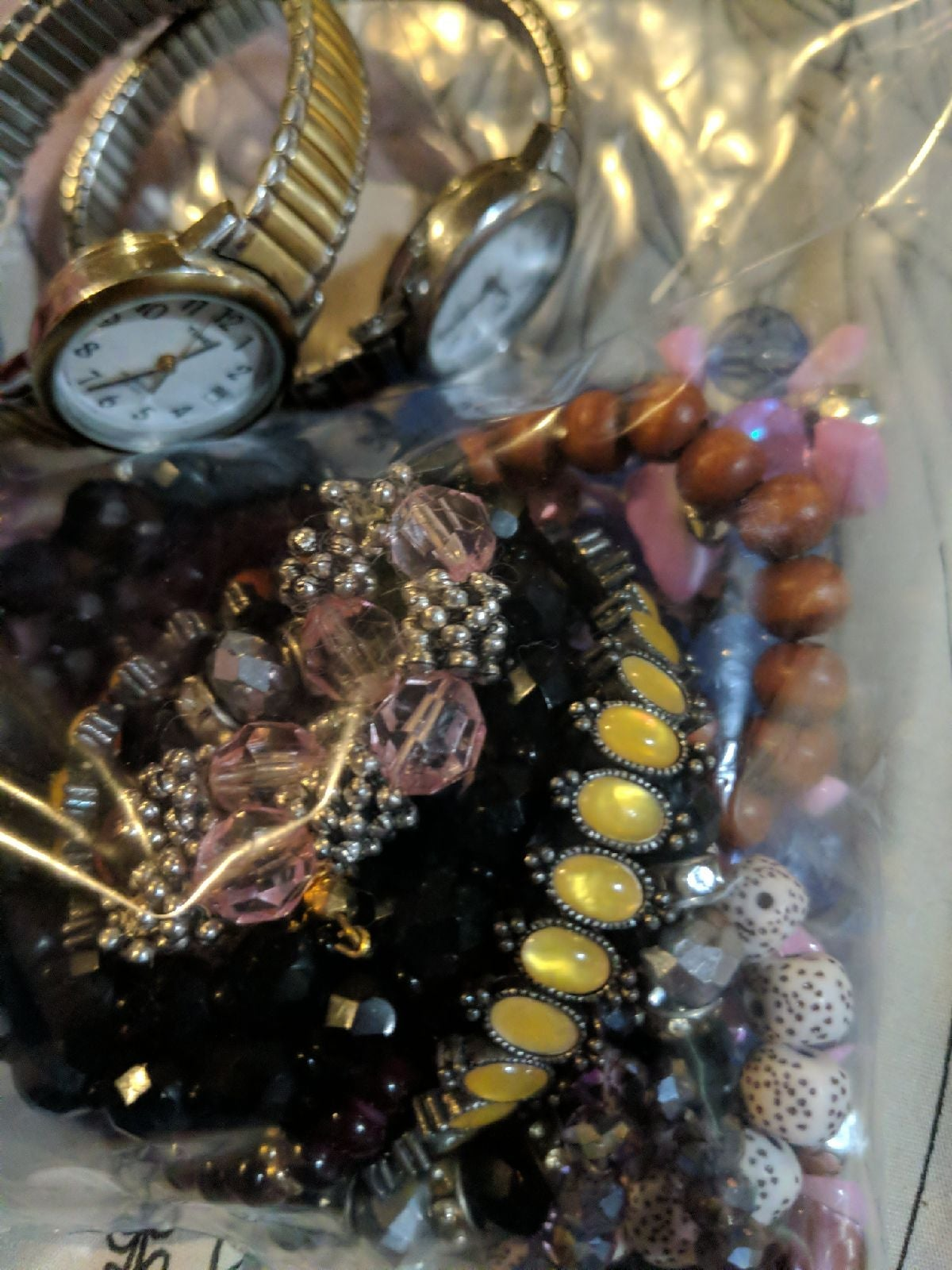 Lot of 12 bracelets and 2 watches