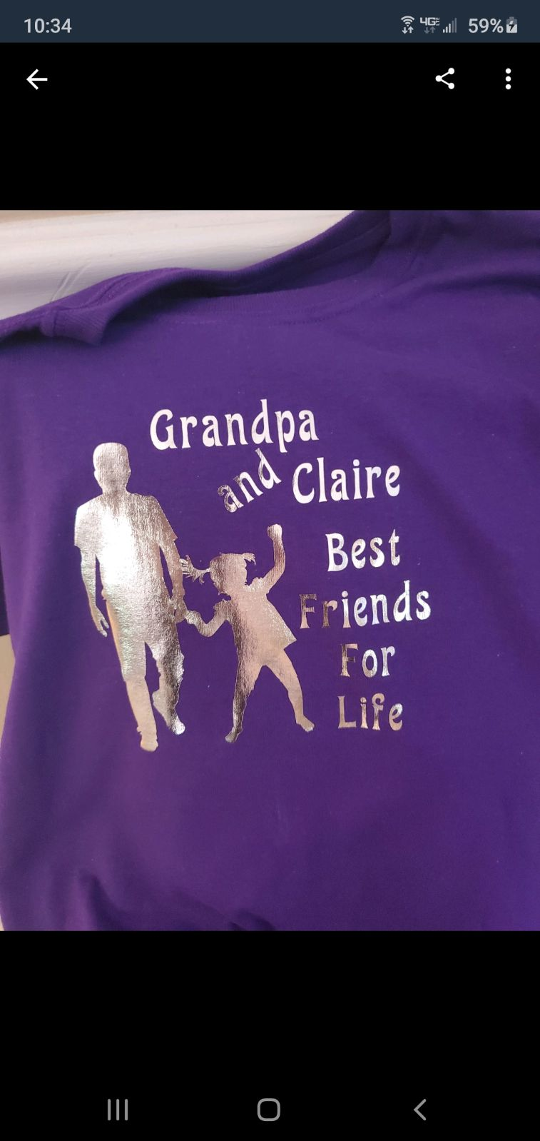 T-shirt for grandson or granddaughter wh