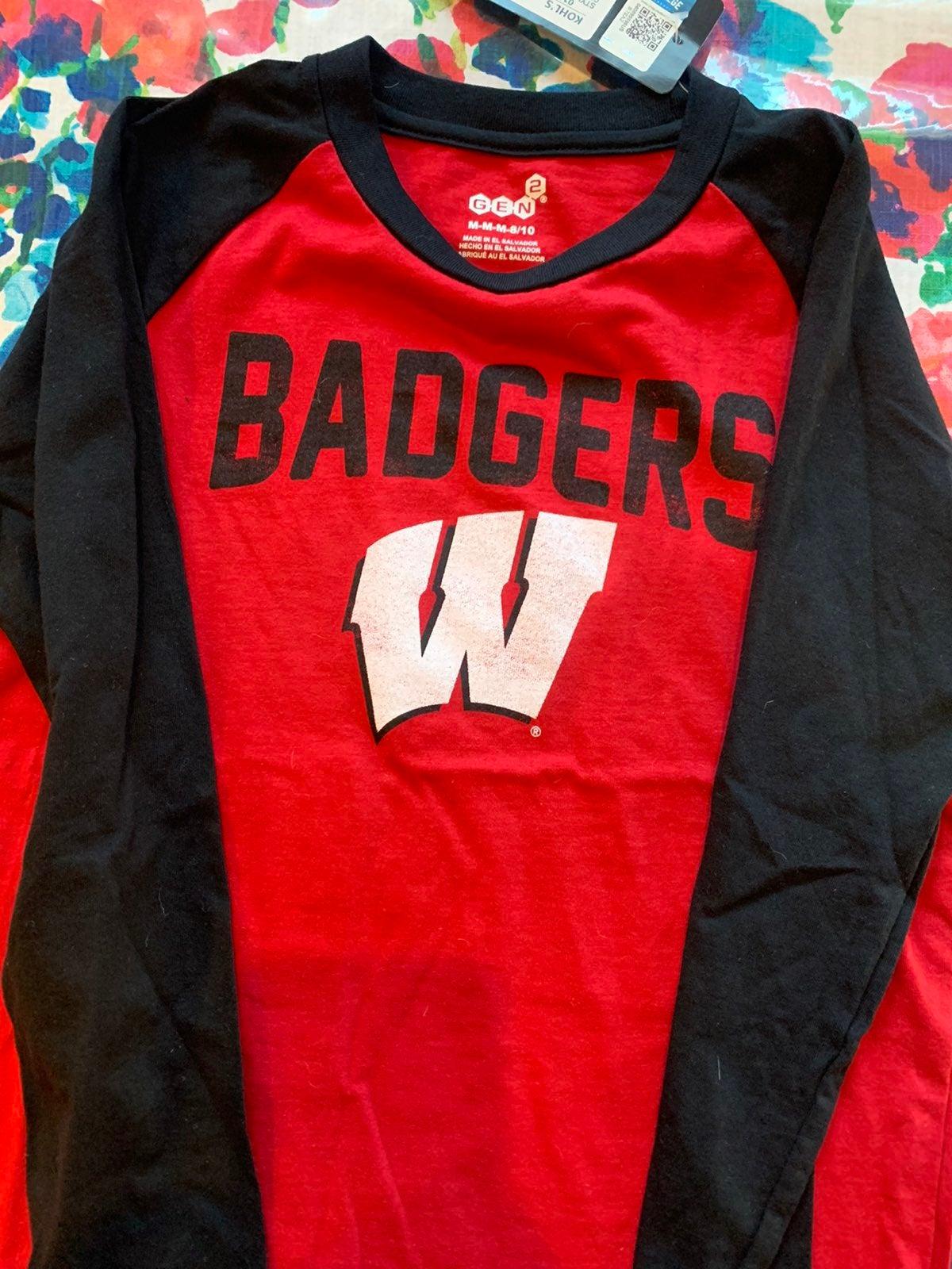 Kids Wisconsin Badgers shirt