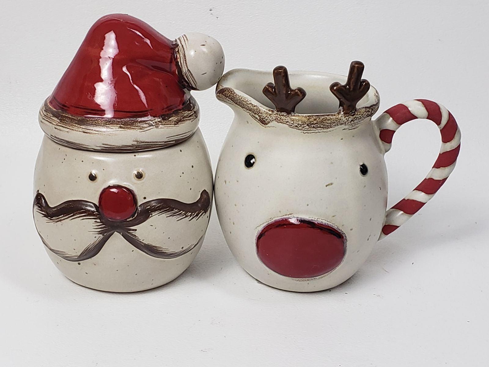 Mudpie Farmhouse Christmas Creamer Sugar