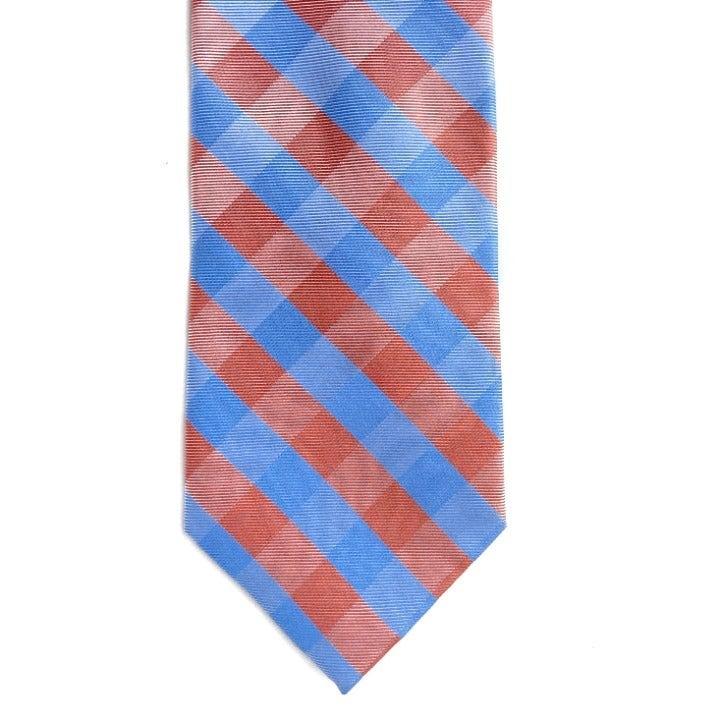 "Mens Nautica Silk Check Neck Tie 58"""