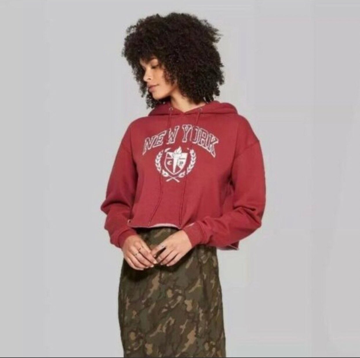 Wild Fable Cropped New York Hoodie, S