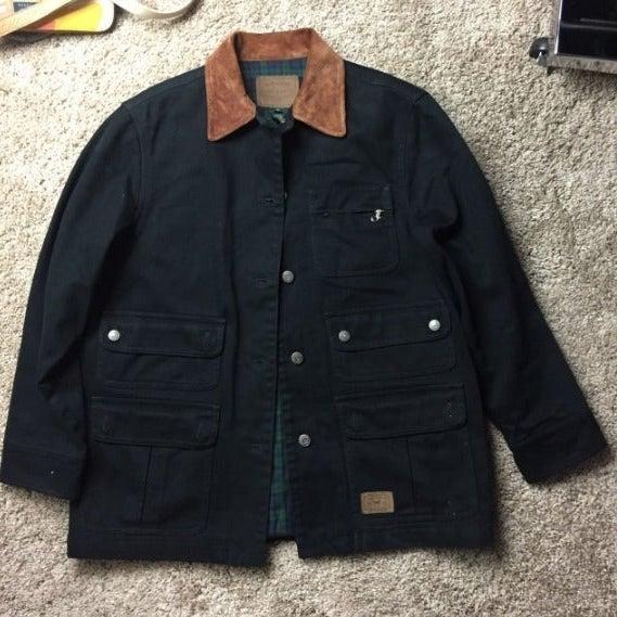 Ralph Lauren Black Denim Jacket M