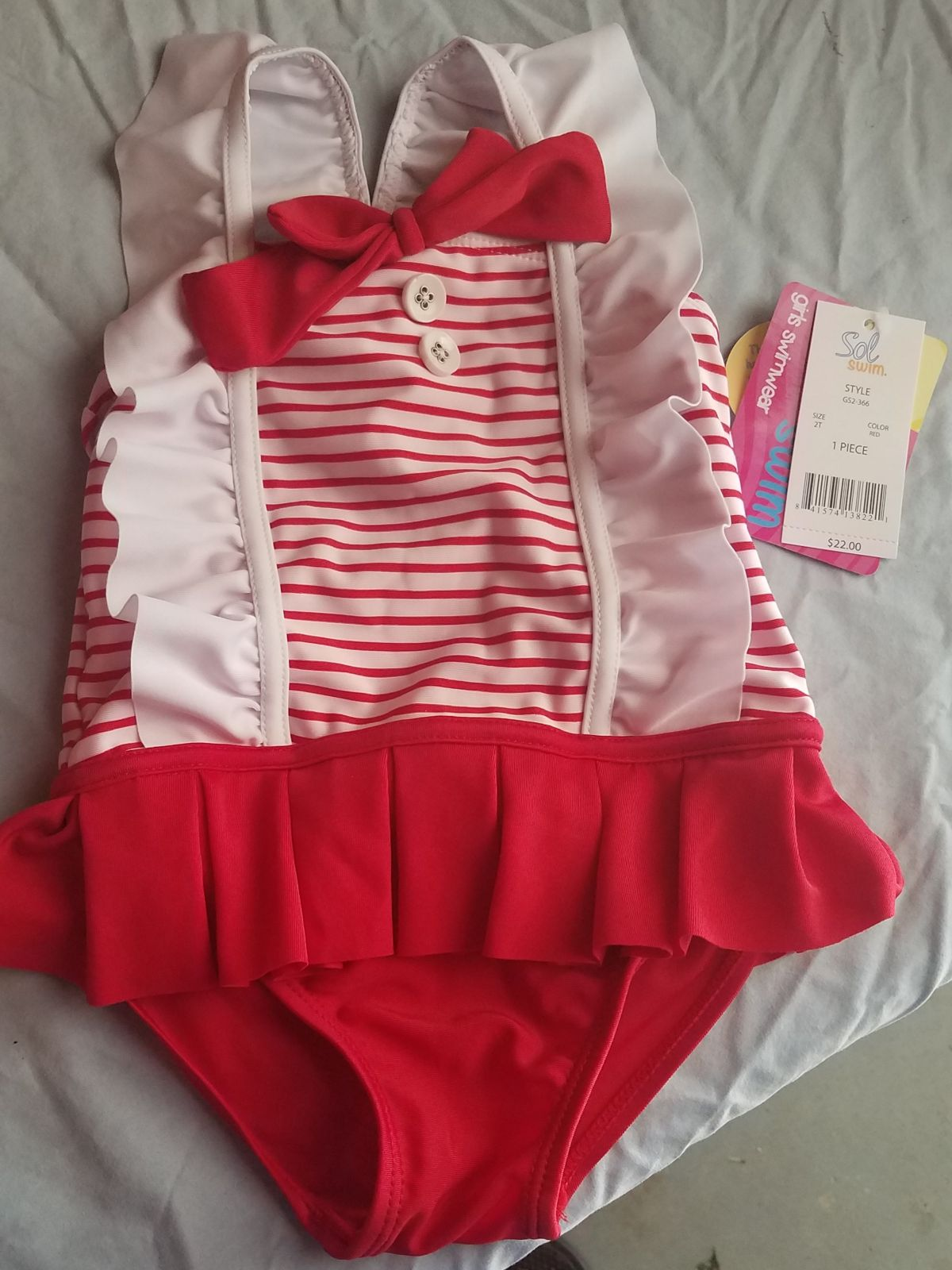 Sol Sun Toddler Girls Swimsuit