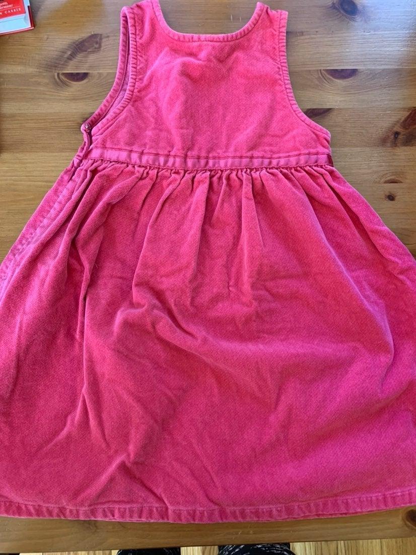 Pink velour ll bean dress
