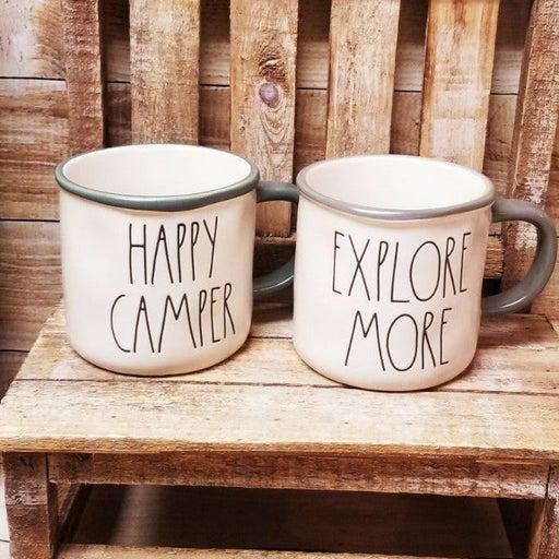 Rae Dunn happy camper explore more mug