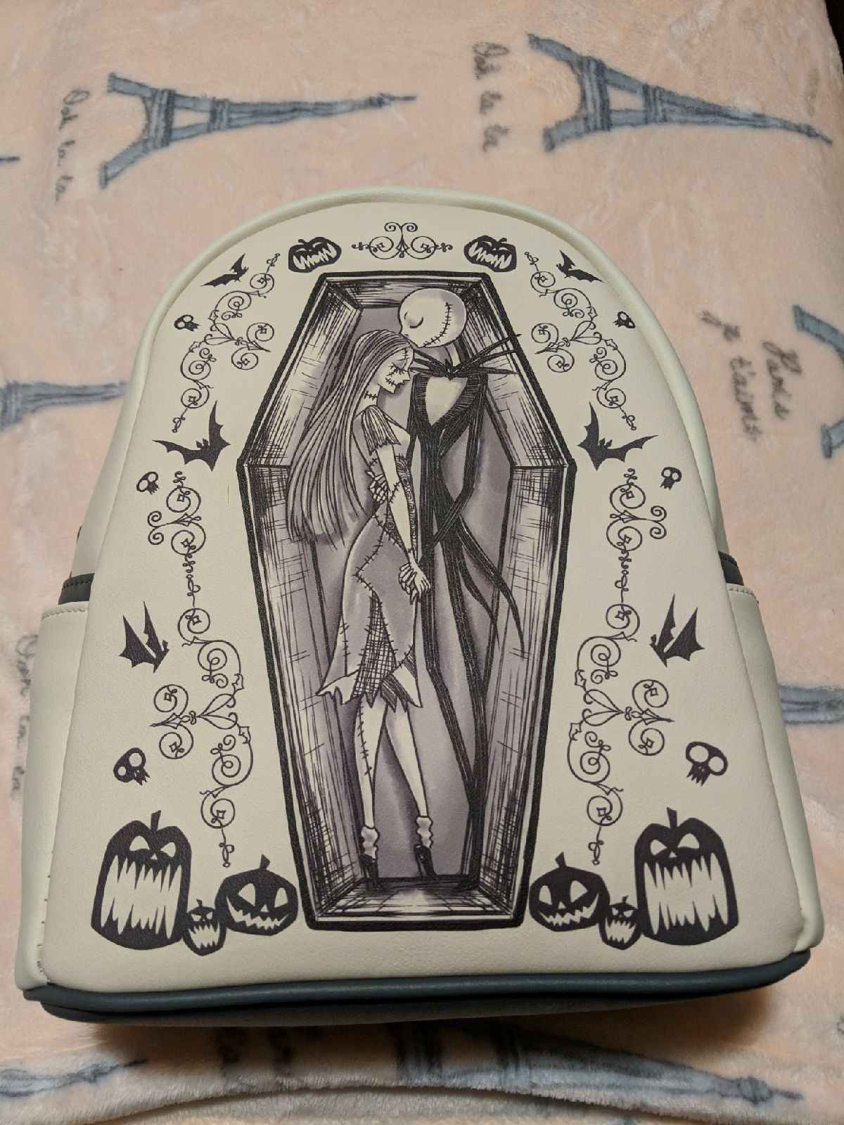 Loungefly Jack and Sally Mini Backpack