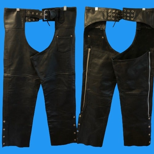 Brackney Size Small Black Leather Chaps
