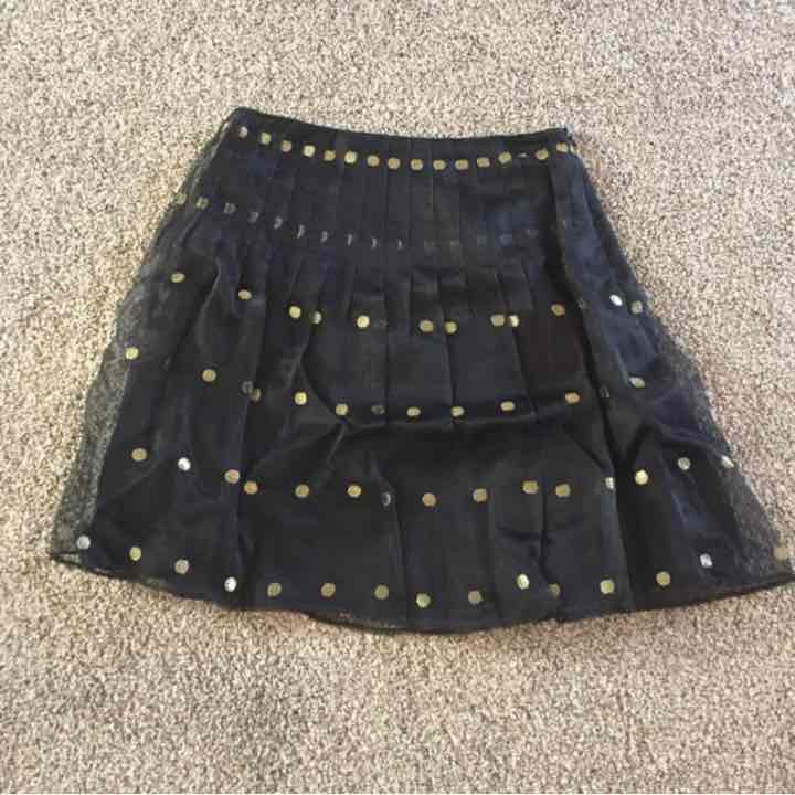 Kay Unger black and gold skirt