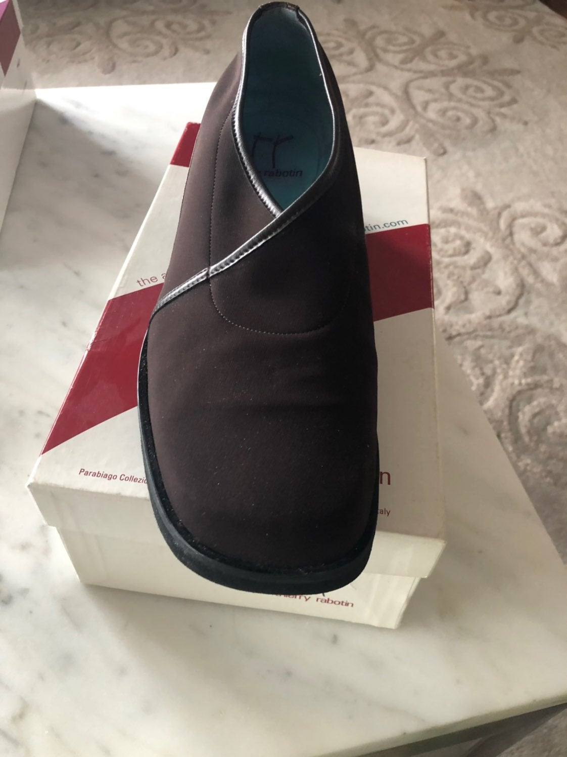 Thierry Rabotin Brown Microfiber shoe