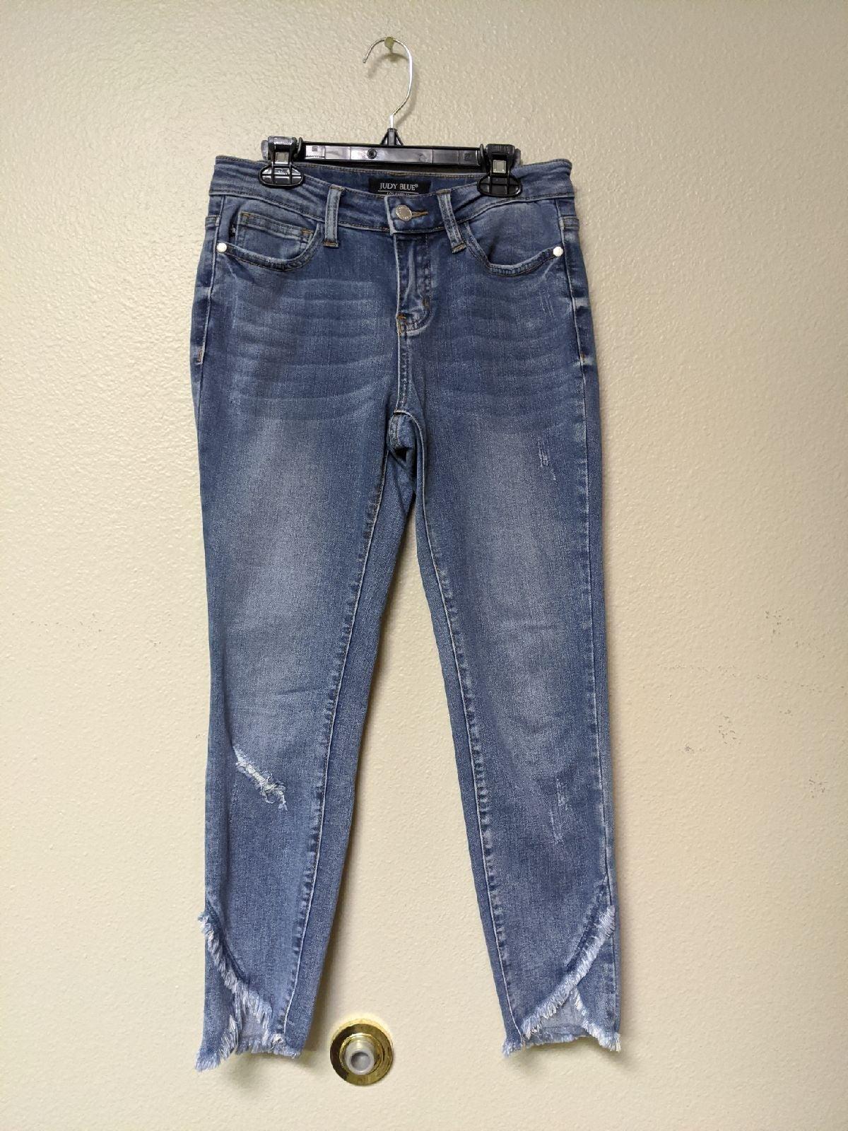 JUDY BLUE Distressed Denim Jean Pants