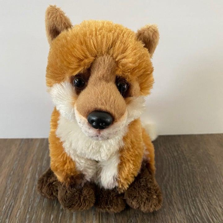 Demdaco Red Fox Plush Sitting Realistic