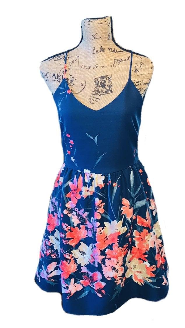 Pink Owl floral dress size M