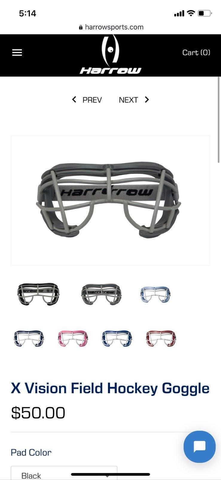 Harrow X vision field hockey goggles