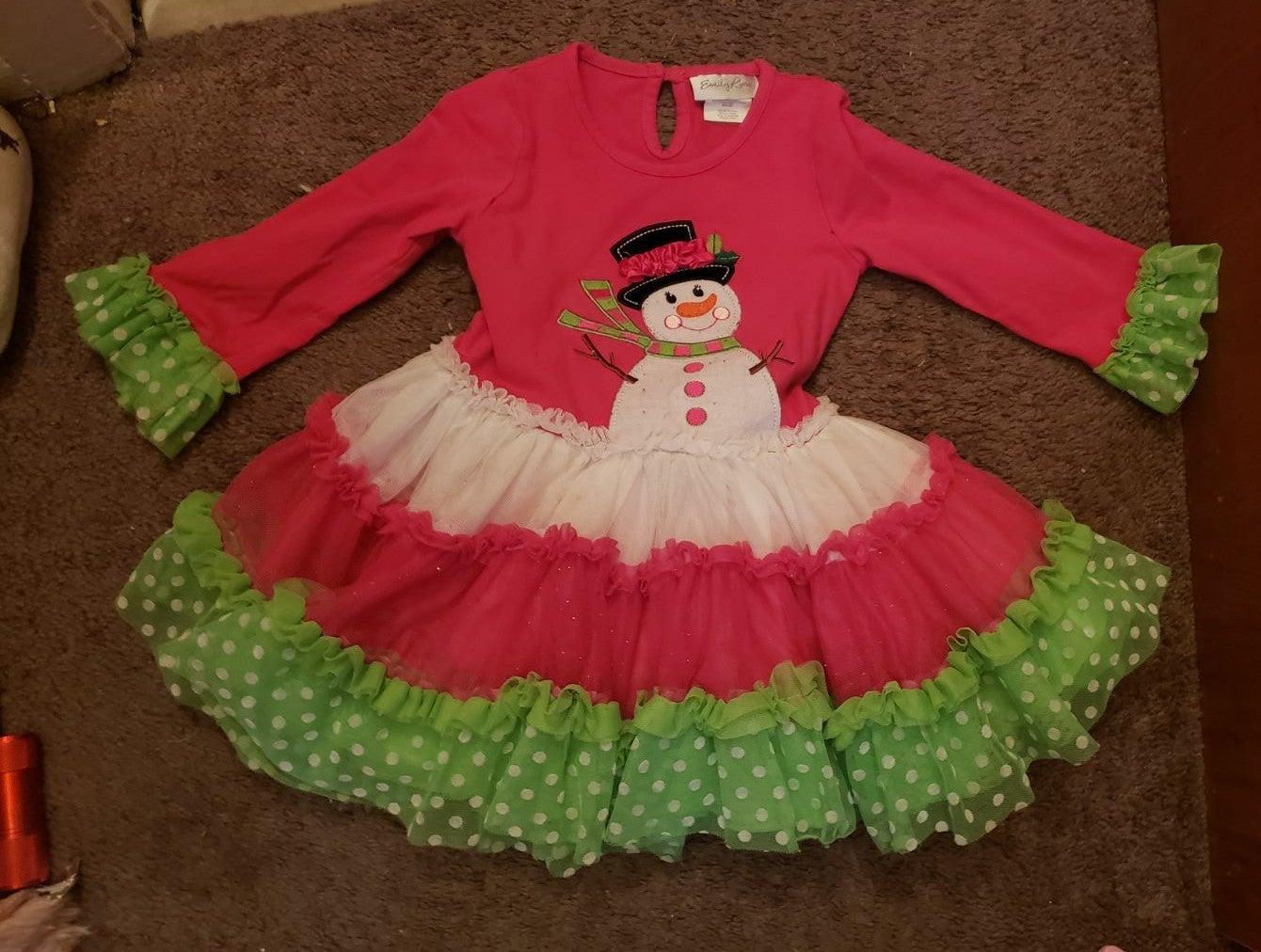 Cute snowman dress Emily rose 3t