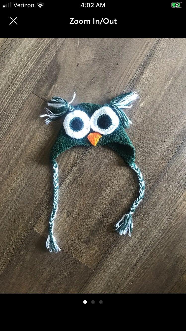 Handmade Infant Owl Hat