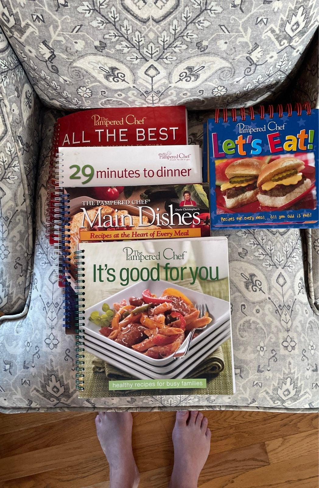 Pampered chef spiral bound cookbook lot
