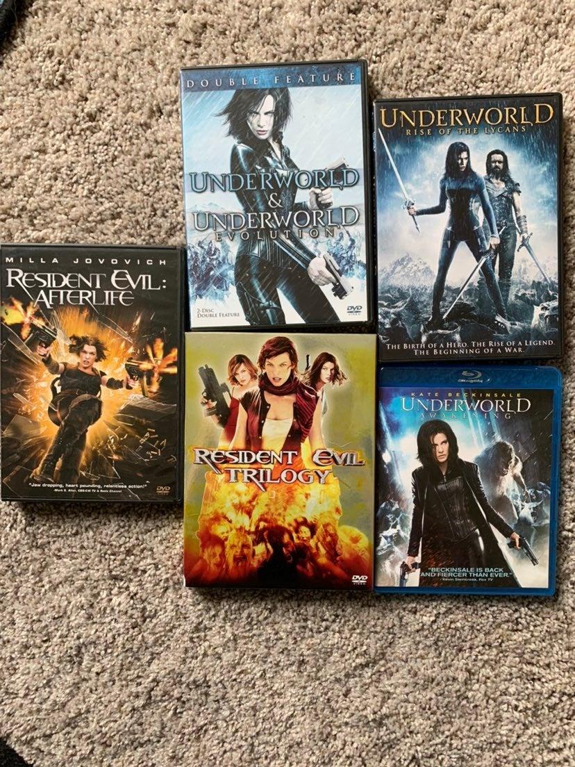 Resident Evil/ Underworld dvd