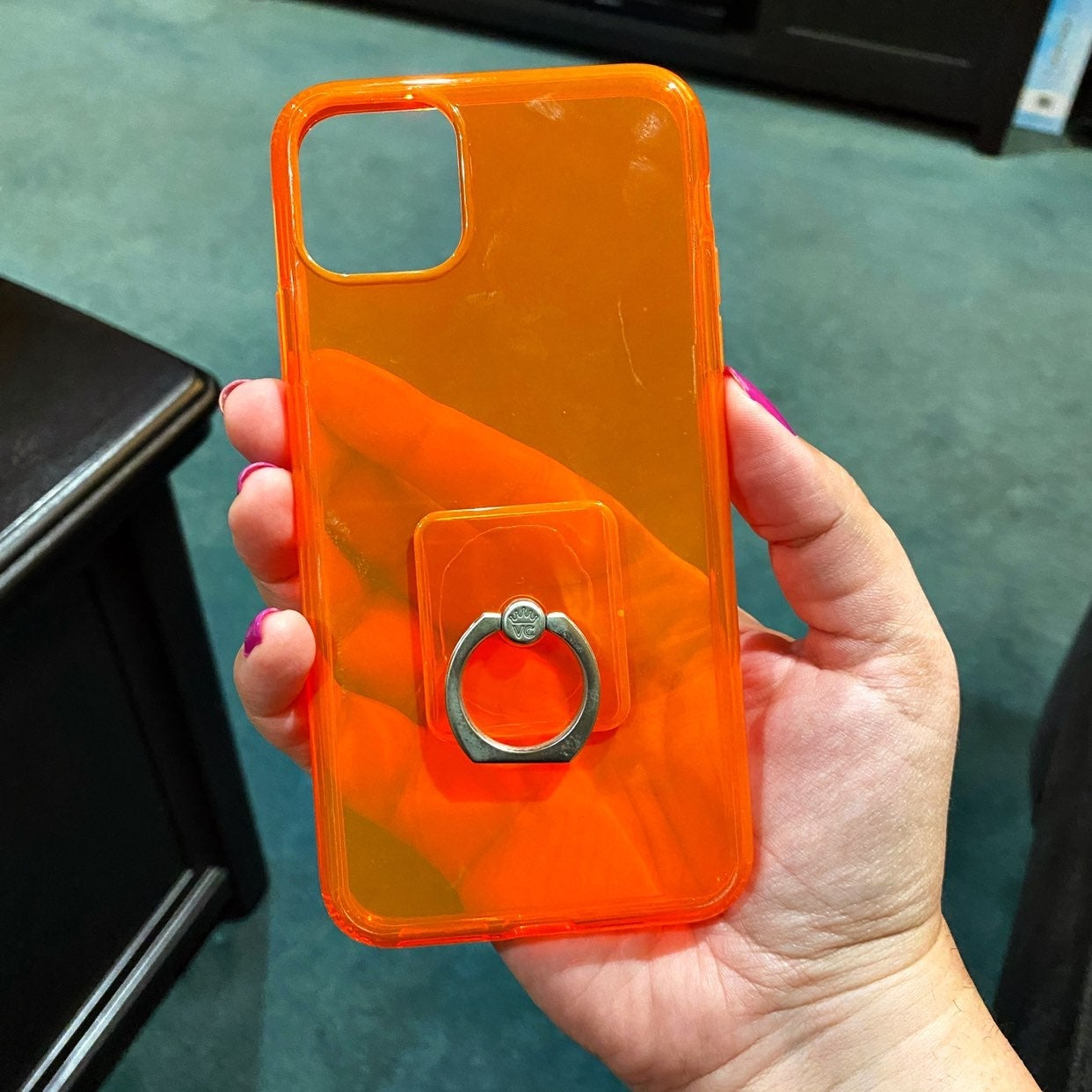 Velvet Caviar Neon Orange iPhone Case